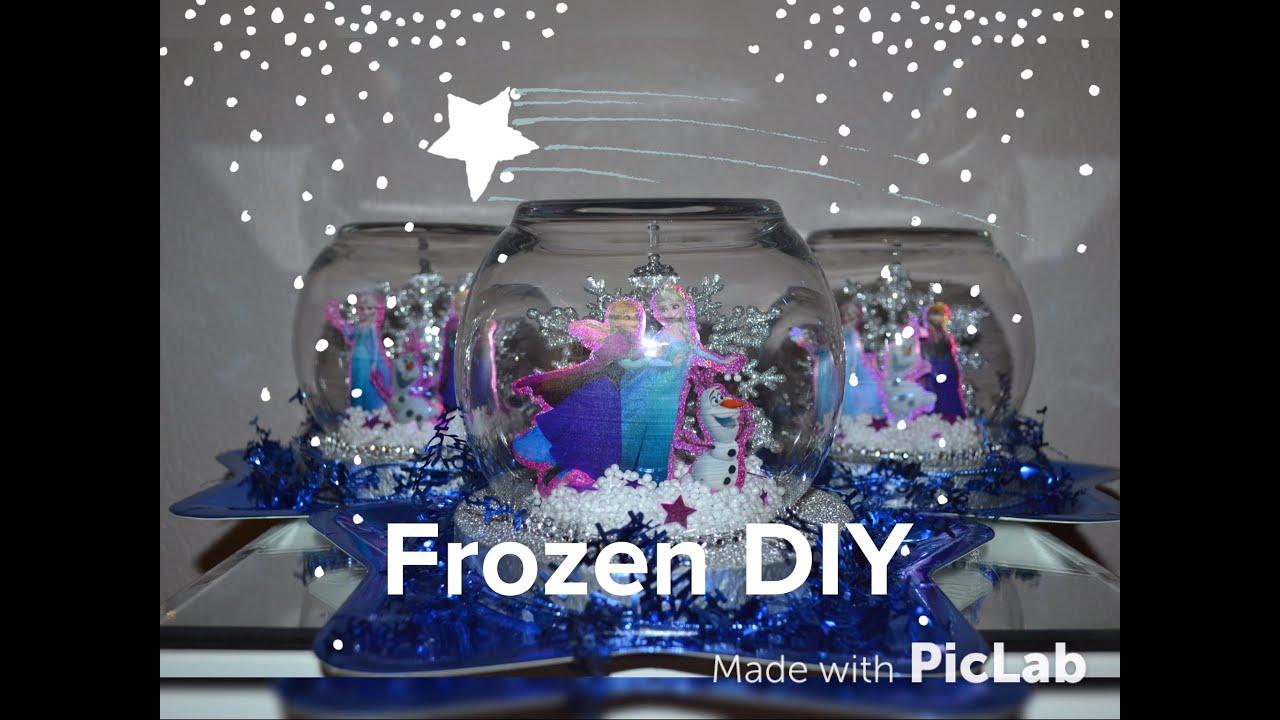 Centro de mesa para fiesta de frozen facil y economico for Centros de mesa de frozen