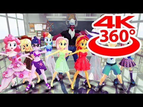 VR 360 4K Equestria Girls Dancing Music   Dance Group