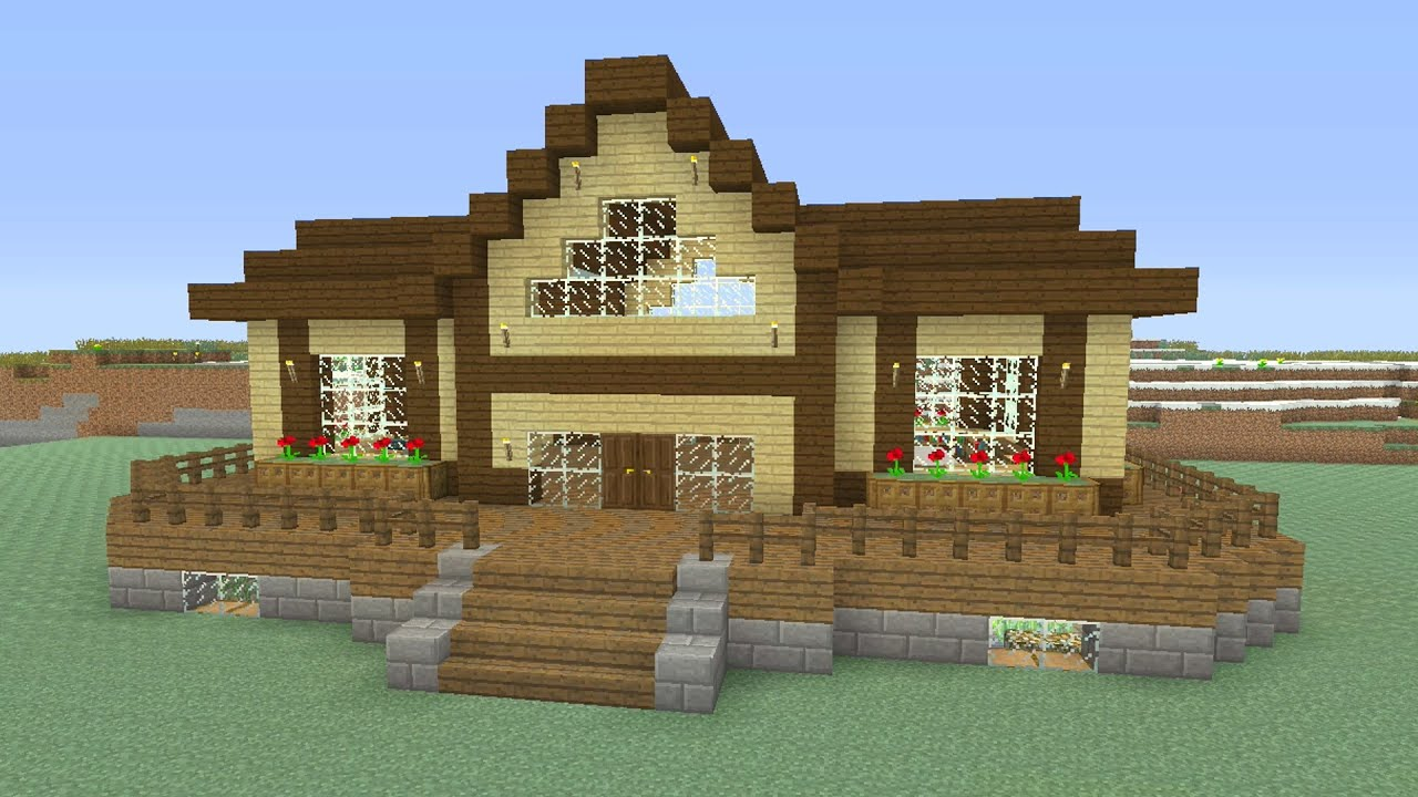 Minecraft - Awesome Wooden Survival House \