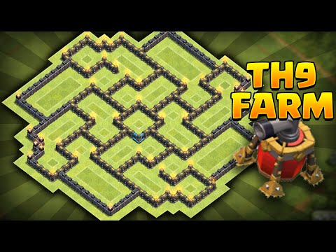 Clash Of Clans - NEW Update TH9 Farming BASE!! CoC Best Town Hall 9 Farming BASE!! *MUST SEE*