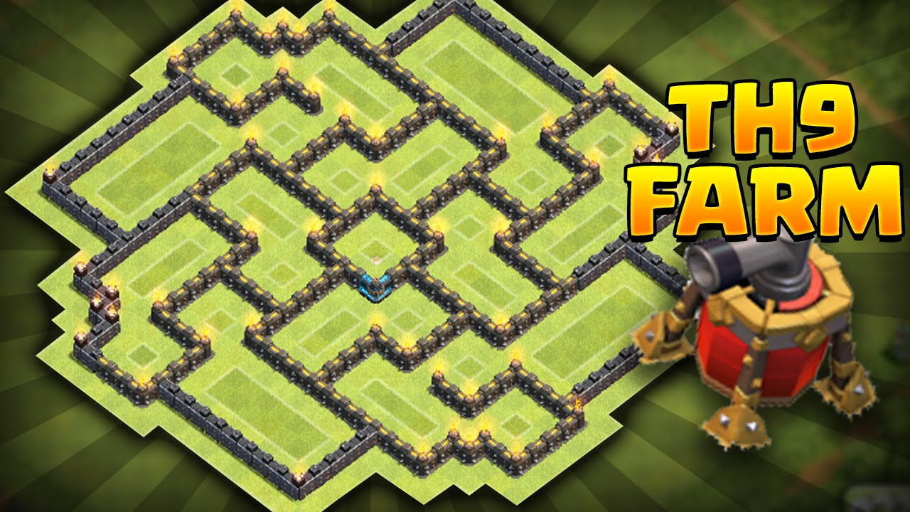 Th9 farming base coc best town hall 9 farming base must see