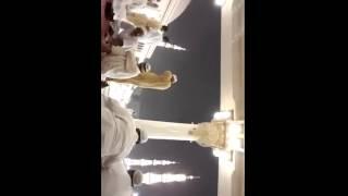فيديو | عاصفة رعدية ترعب المصلين بالقرب من المسجد النبوى