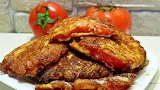 Улётный закусь! Жареные помидоры в сырном кляре. Закуска. А холодные вкуснее!