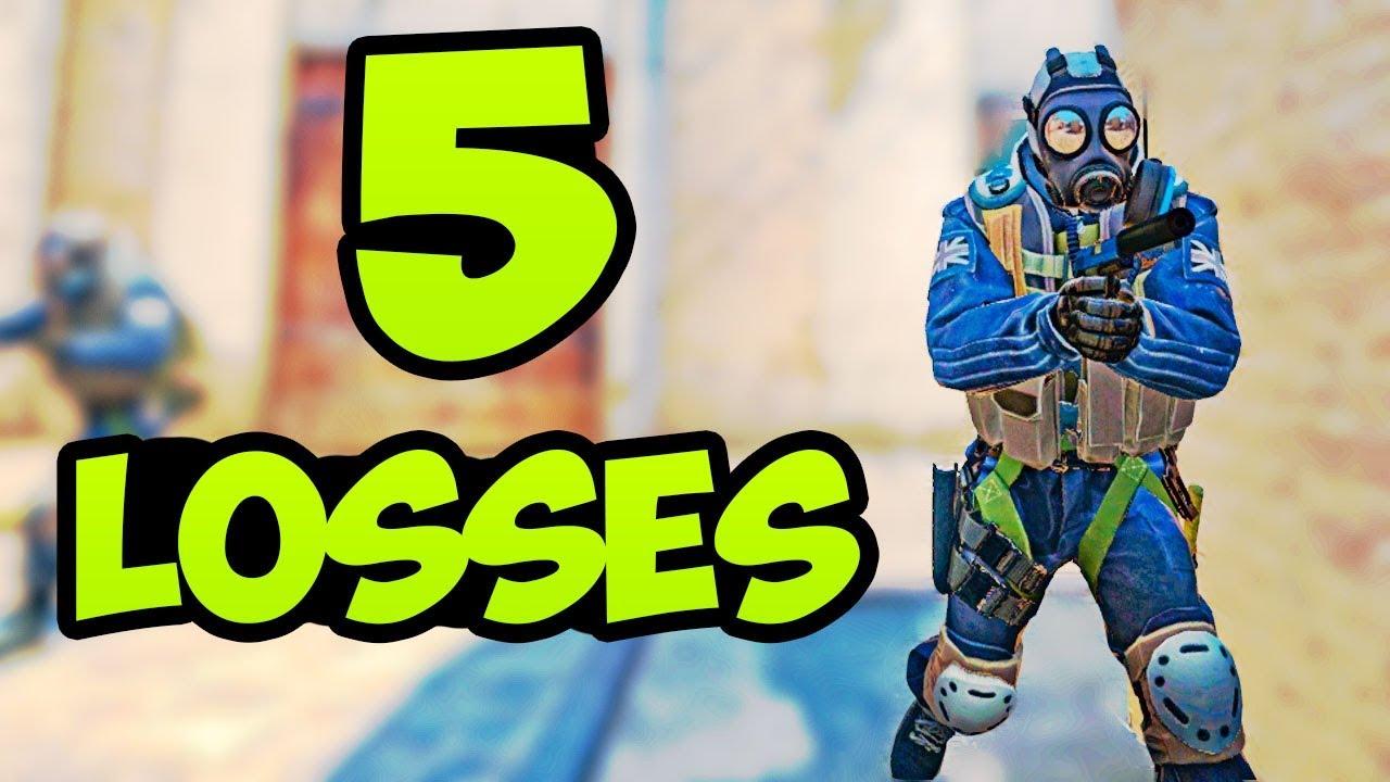 5 perdas diretas em um dia no Faceit CSGO + vídeo