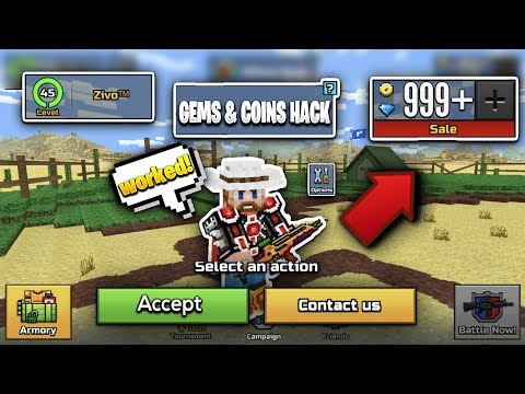 I FOUND A NEW WORKING PIXEL GUN 3D HACK!?...(UNLIMITED GEMS AND COINS!)