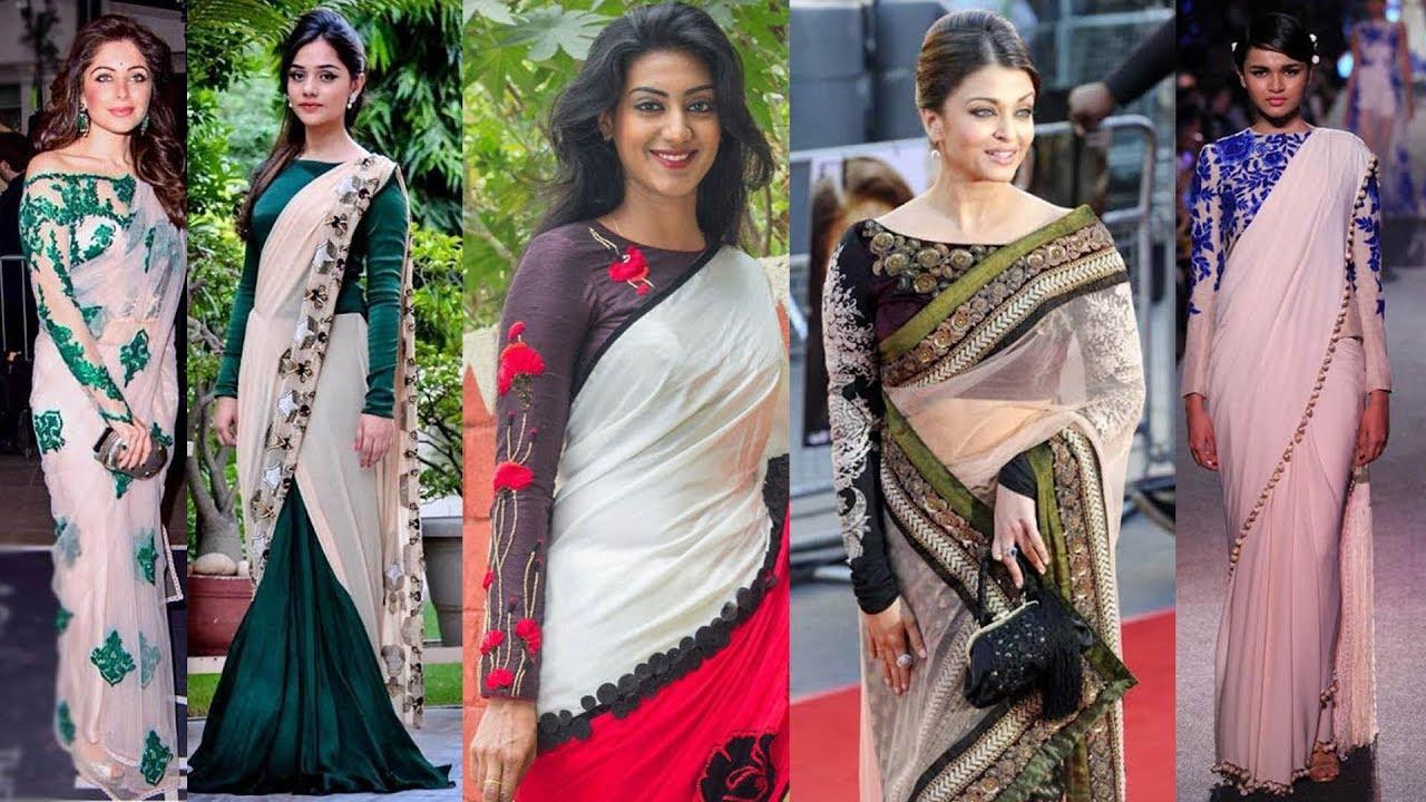 857b01ab828553 25 Stylish Full Sleeve Saree Blouse Designs
