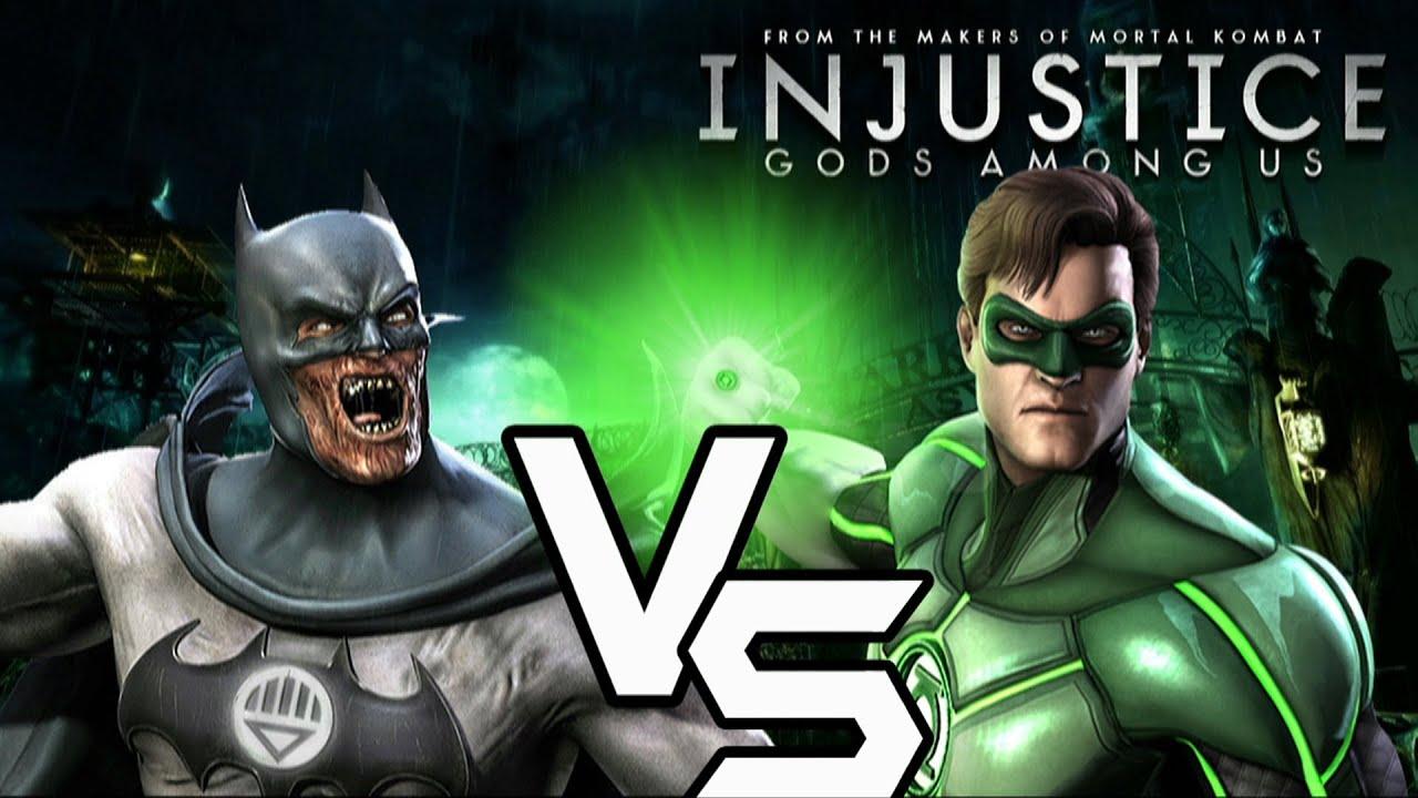 Injustice Gods - Blackest Night Batman Green Lantern With Lore & Skins