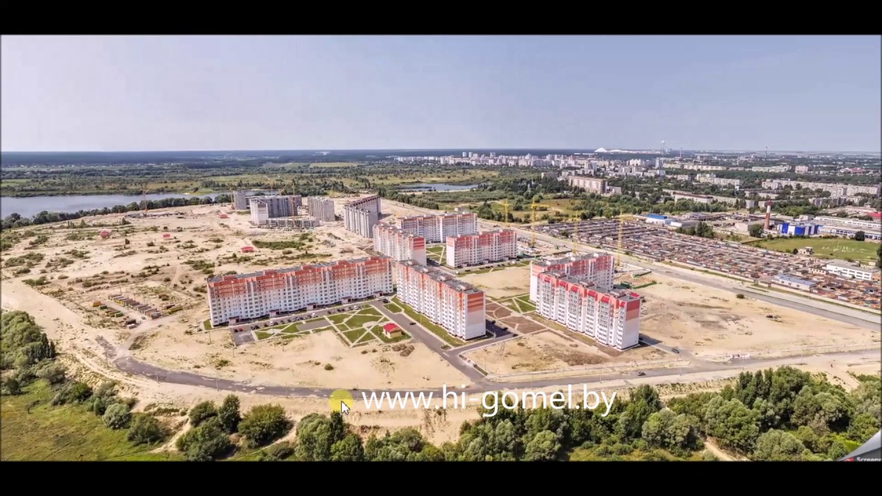 Город Речица, Гомельская область, Беларусь, центр города, 2016 год .