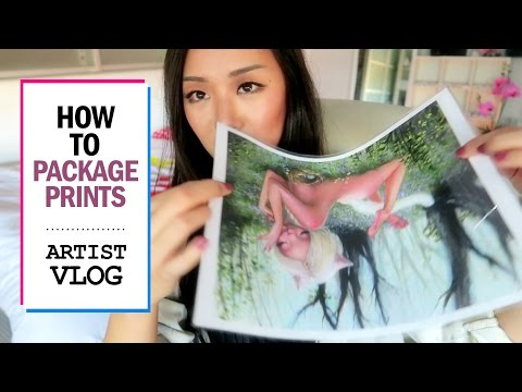 How To Package Prints // ARTIST VLOG 7