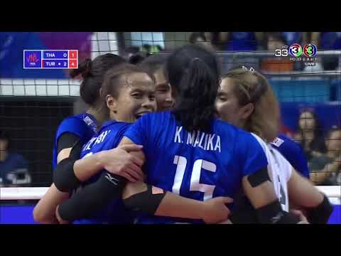 HL : Thailand vs Turkey 1:3 sets volleyball nation league 2018