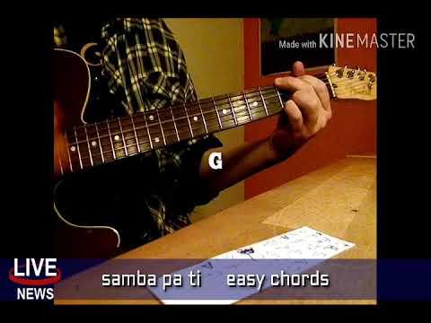 Samba pa ti easy chords for guitar - YouTube