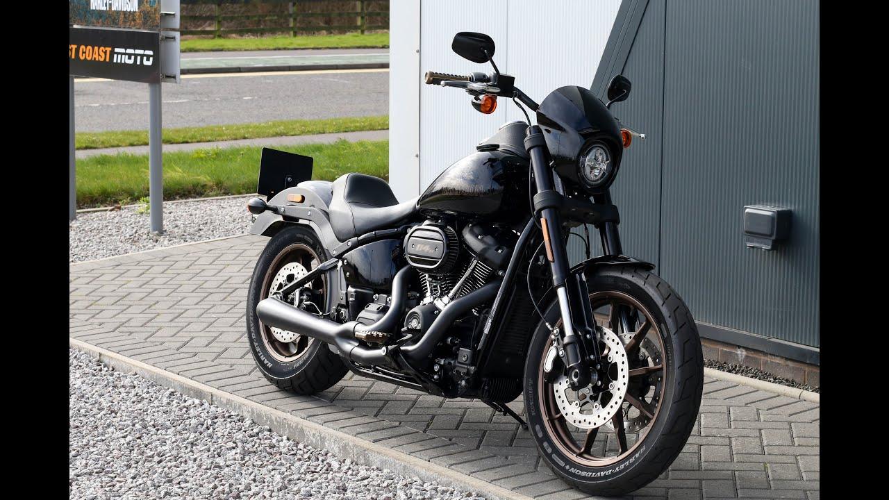 2020 harley davidson softail fxlrs low rider s cobra pipes vivid black wchd glasgow scotland