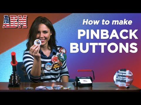 How to make a pinback button with a button maker from