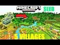 MCPE 1.13 - JUNGLE VILLAGES, 2 JUNGLE TEMPLES & 5 VILLAGES SEED ! Minecraft PE
