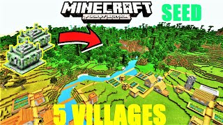 MCPE 1.13 - JUNGLE VILLAGES, 2 JUNGLE TEMPLES & 5 VILLAGES SEED ! Minecraft PE