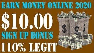 Make money online 2020 legit | $10 sign up bonus glintclix