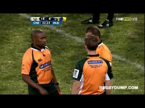 James Haskell's punches on Justin Downey - Highlanders vs Cheetahs