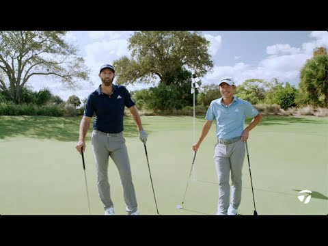 Dustin Johnson VS. Collin Morikawa 2-Club Challenge | TaylorMade Golf