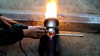 горелка на отработанном масле, для котла на водяном  отоплении