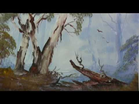 How To Paint Australian Ghost Gums.