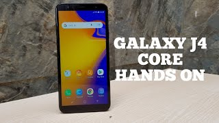 GALAXY J4 CORE HANDS ON (Android 8.1 Go Edition): Infinity Display.