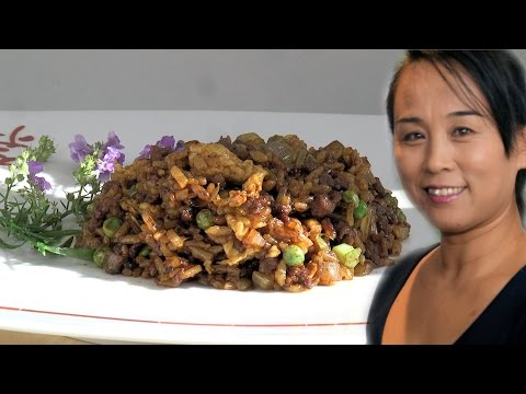 Chinese Beef & Egg Fried Rice (Asian, Chinese Rice Recipe)
