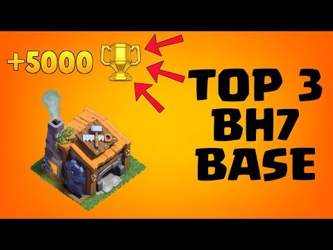 TOP 3 BH7 BASE!! +5000 TROPHY | NEW BUILDER HALL 7 BASE DESIGN | CLASH OF CLANS