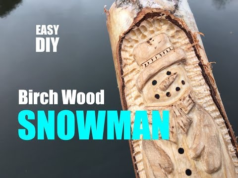 How to make a Birch Wood Snowman Christmas Decoration
