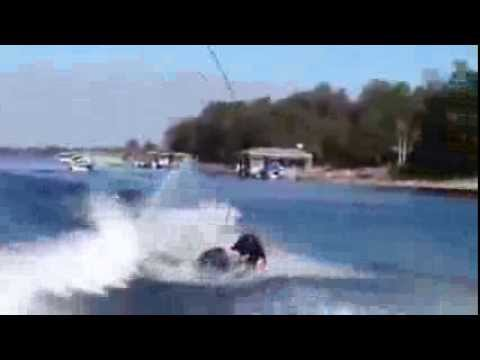 Pro Wakeboarder Mike Dowdy Hyperextends His Left Knee Attempting a Double Roll-To-Blind