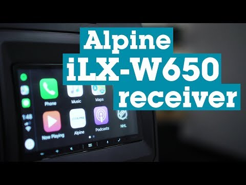 Alpine ILX-W650 Receiver With Android Auto And CarPlay | Crutchfield
