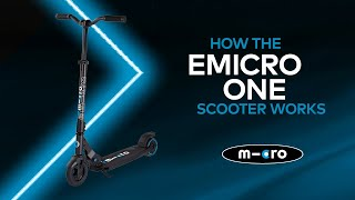 How the emicro one scooter works