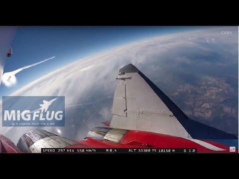 MiG-29 Edge of Space flight - Outside camera #2 - full length