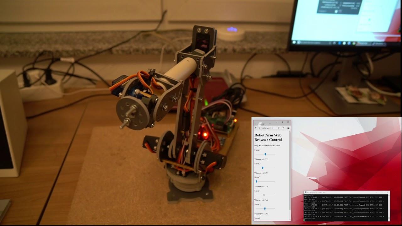 6-Axis Desktop Robotic Arm, Assembled – SainSmart com