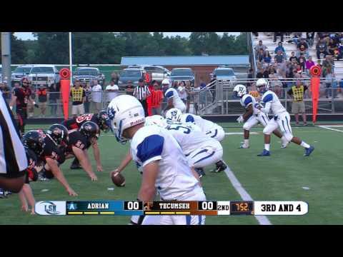 Adrian Maples vs Tecumseh Indians (2016 Football)