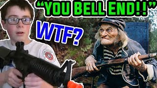 Old Man gets ANGRY Threatens Airsoft Kid (Funny Moment)