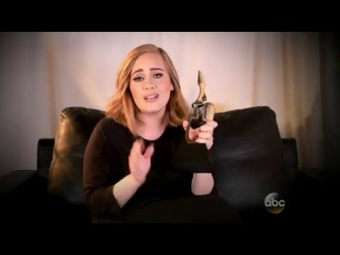 Adele accepts the award for Top Billboard 200 Album!