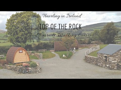Camping in Ireland at Top of the Rock in West Cork