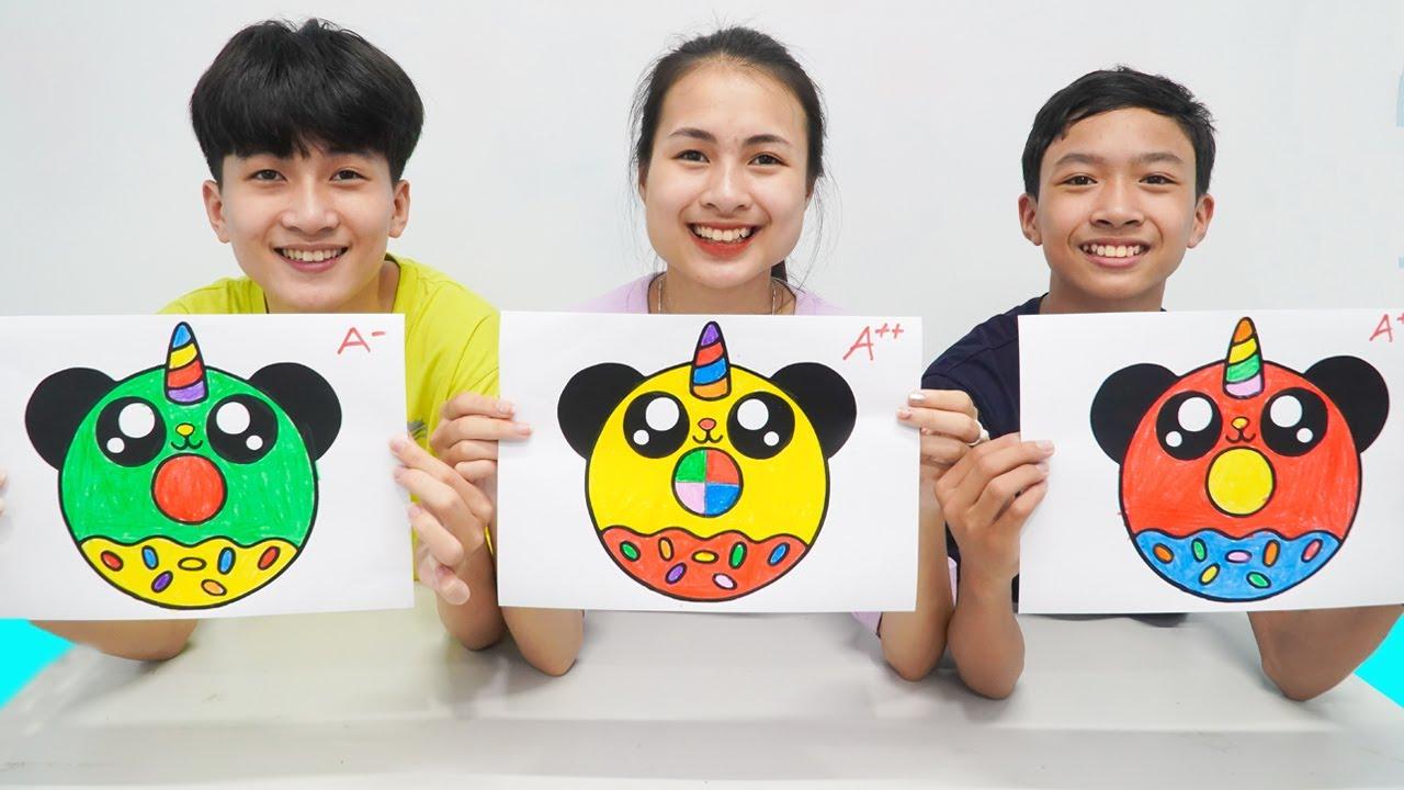 Donat Panda Berkilau, Warna Warni Belajar Menggambar dan Mewarnai untuk Anak