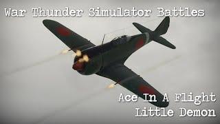 War Thunder - Simulator Battles - Little Demon Ace In A Flight