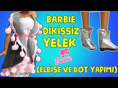 Barbie Kolay Dikişsiz Giysi ve Ayakkabı Yapımı - DIY - Kendin Yap Barbie Giysileri - Bidünya Oyuncak