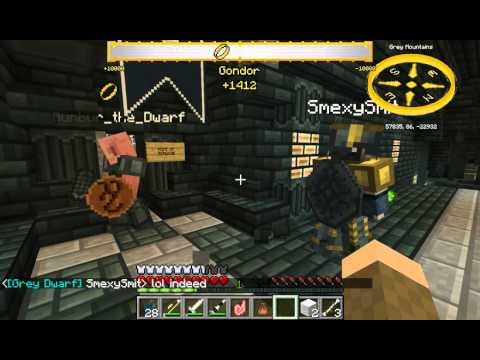 Minecraft Lord Of The Rings mod Official server ep.20 Dain's Halls tour