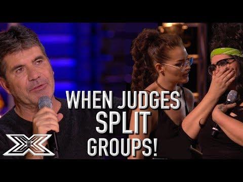 When Judges SPLIT GROUPS On X Factor UK!   X Factor Global
