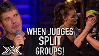 When Judges SPLIT GROUPS On X Factor UK! | X Factor Global