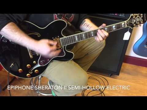 Epiphone Sheraton II Semi-Hollow Body Electric Guitar Ebony