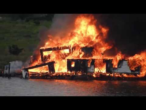 Pioneer Boat Club Fire,  Hastings-on-Hudson, NY