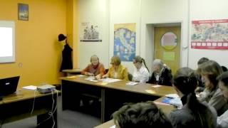 Урок английского в Лингвистическом центре в Библиотеке иностранной литературы на Николоямской