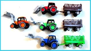 Street Vehicles | Farm Vehicles For Kids | Tractors | Educational Learning Video | Trucks
