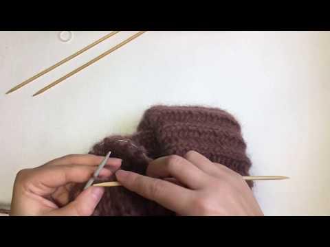 Как закончить вязание шапки спицами английская резинка