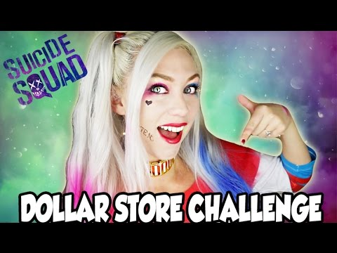 Thumbnail: Full Face Using Only Dollar Store Makeup CHALLENGE Harley Quinn Edition!