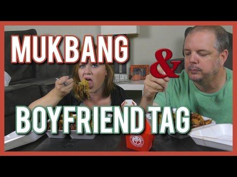 Mukbang and Boyfriend tag | Panda Express and a nervous Duke